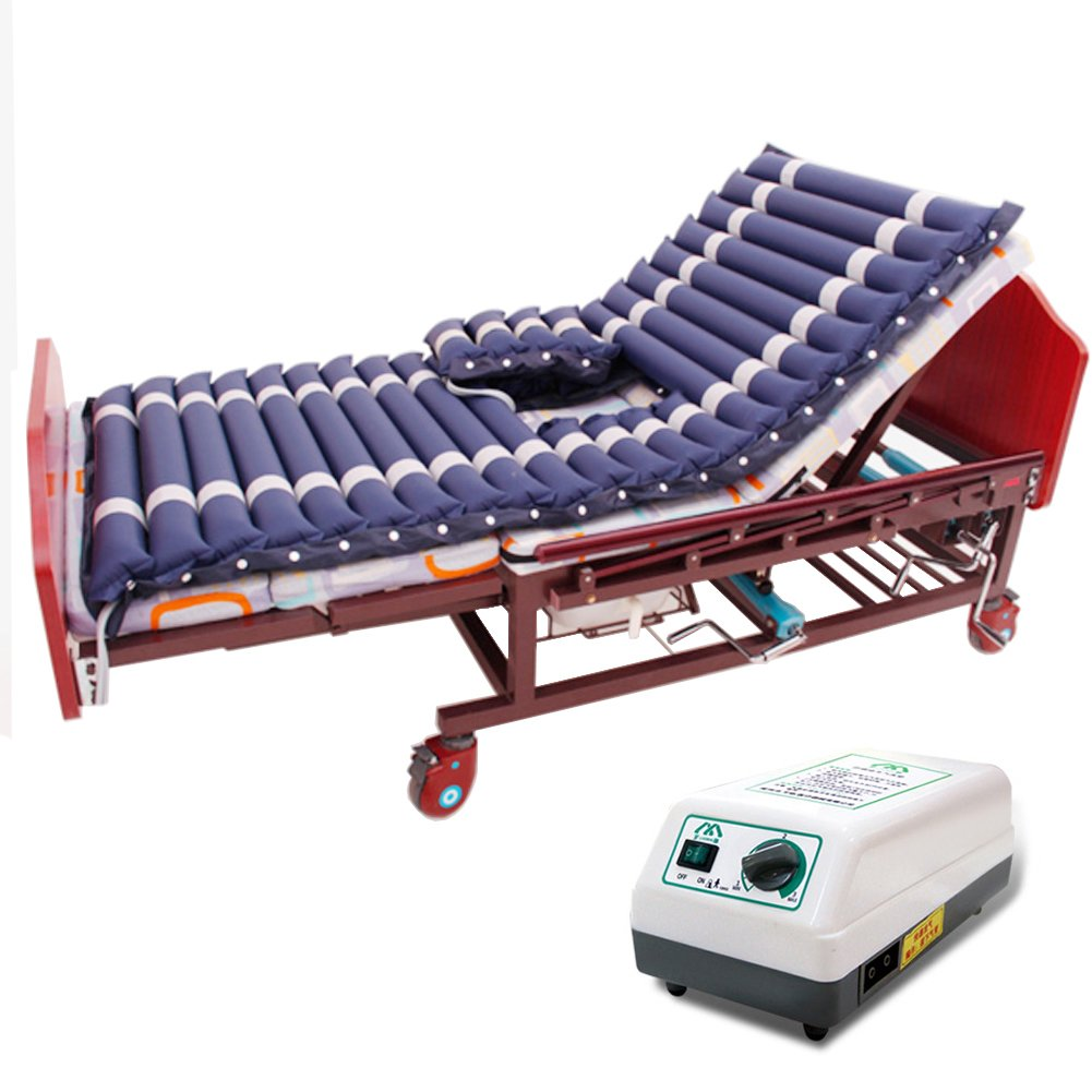 Tcare Alternating Pressure Mattress- Inflatable Bed Pad for Pressure Ulcer and Pressure Sore Treatment - Fits Standard Hospital Beds - Includes Electric Air Pump & Mattress Pad