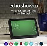 Echo Show 8 -- HD smart display with Alexa – stay
