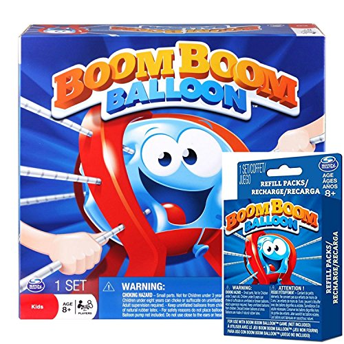 Boom Boom Balloon Game Bundle Kids Game and Refill Pack