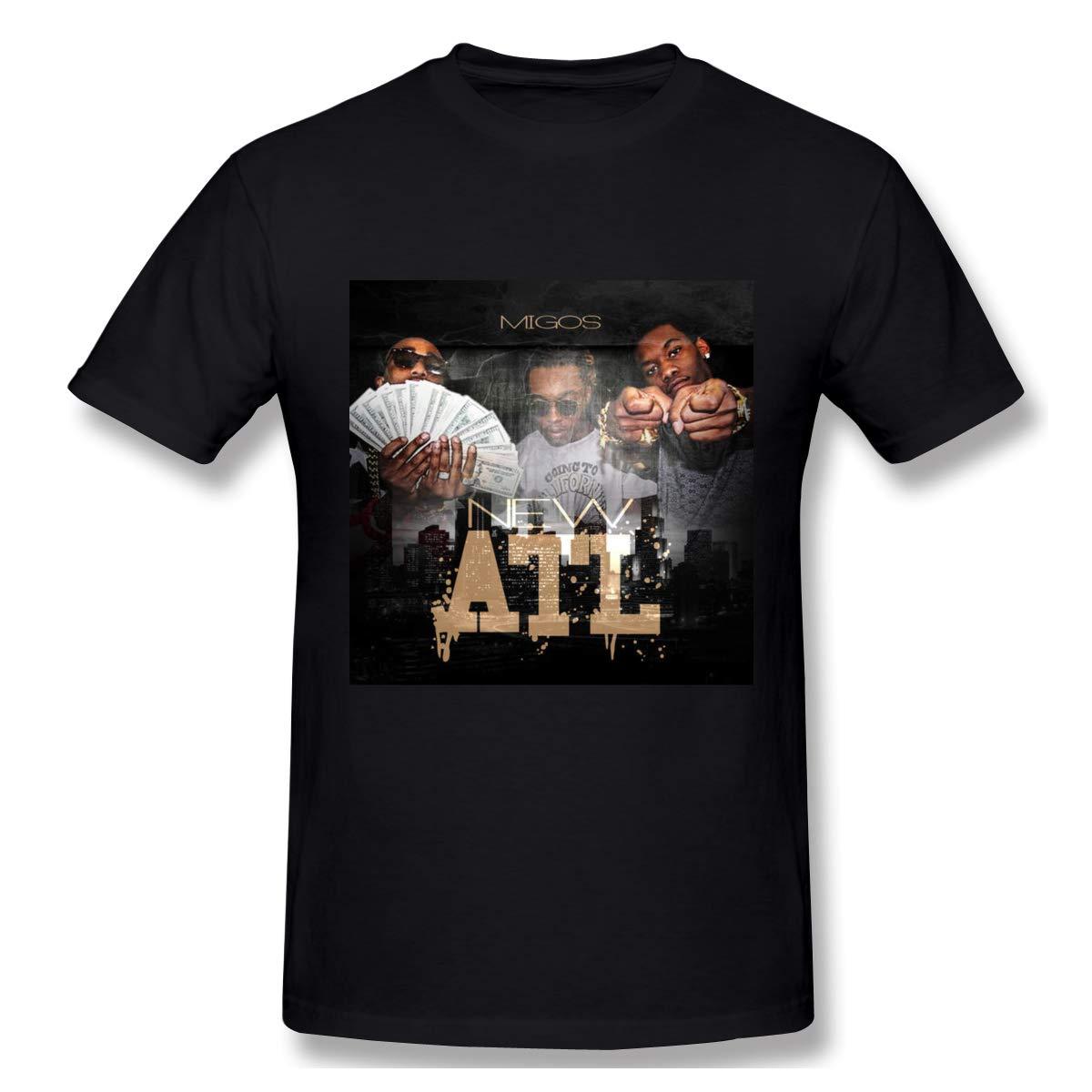 JoyRacka Mi-gos ATL Mens Fashion Short Sleeve TT-Shirt