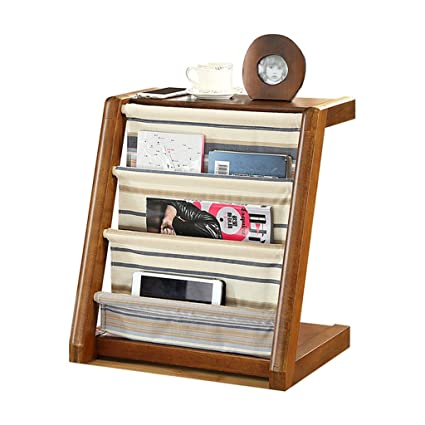 Home Décor Accents Magazine Rack Solid Wood Creative Newspaper Rack Floor  Stand Vertical Bookshelf Innovative Design