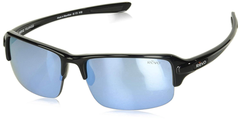 Revo EyewearサングラスAbyssブラックwith Blue Water偏光レンズサングラス   B07BQ252G2