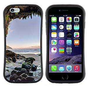 """Pulsar iFace Series Tpu silicona Carcasa Funda Case para Apple (4.7 inches!!!) iPhone 6 Plus / 6S Plus ( 5.5 ) , Cueva Sunset Ocean Blue Sand verano"""""""