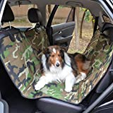 Dog Seat Cover for Cars 600D Oxford Car Pet Mat - Waterproof - Scratch Proof - Nonslip - Washable 54×58 inch Pet Hammock by Thrivingtech (Camouflage)