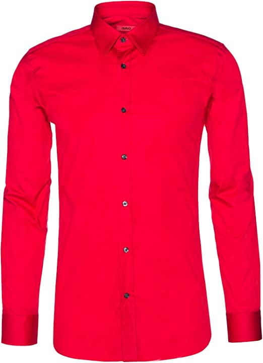 HUGO - Camisa casual - para hombre rojo xx-large: Amazon.es: Ropa