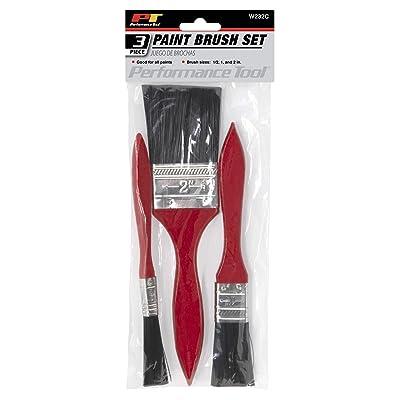 Performance Tool W232C 3-Piece Paint Brush Set: Automotive