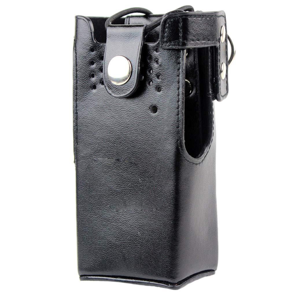 Hard PU Leather Case Cover Bag Holder Replacement for Motorola Walkie Talkie GP328/338 HT750 Regard Regard Natral