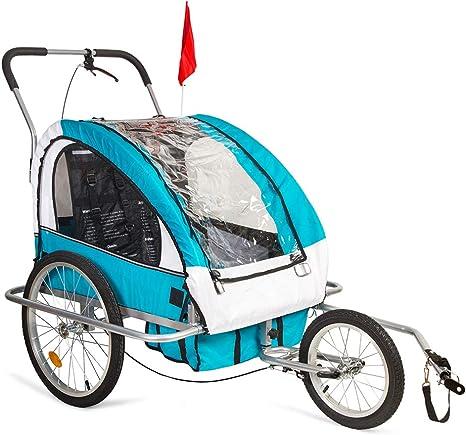 2HPImport Remolque para Bicicleta Tipo Carro con Barra de Paseo ...