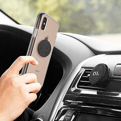 Case-Mate - Car Charms - Decorative Metal Plate + Car Vent Mount - Carbon Fiber