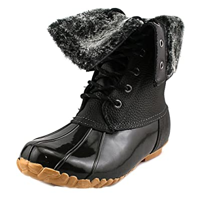 Amazon.com | Sporto Womens Delmar Leather Duck Boot, Black, 10M ...