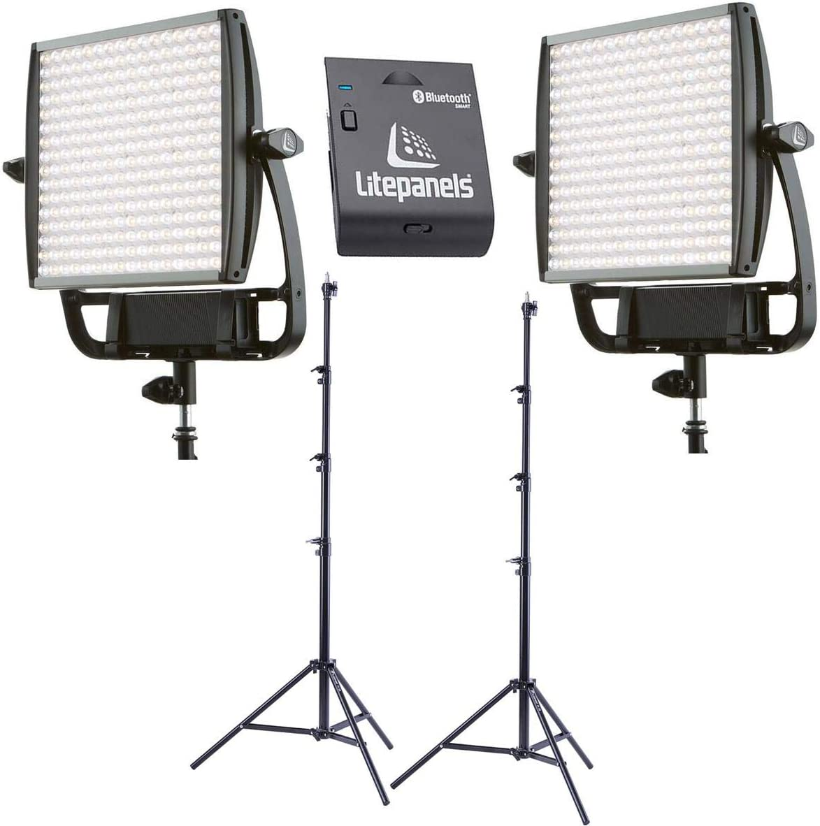 Bundle With 2 Pack Air Cushioned Heavy Duty Light Stand 9.5 Litepanels 2 Pack Astra 6X Bi-Color Next Generation LED Light Panel 105W Litepanels Astra 1x1 Bluetooth Communications Module