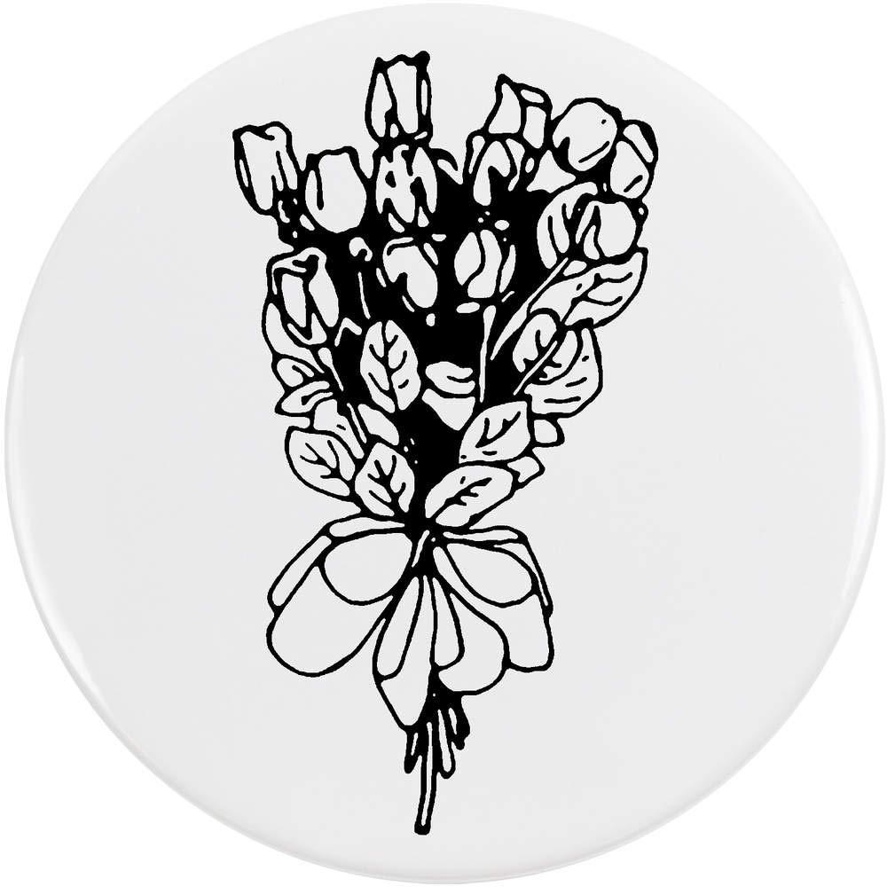 Azeeda 77mm 'Bouquet de Roses' Bouton de Badge (BB00043193)