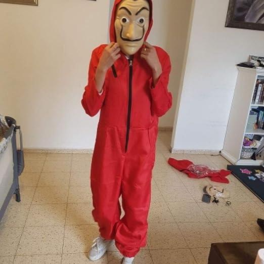 Neborn Salvador Dali La Casa De Papel Costume e Maschera per Il Viso Cosplay The House of Paper Gioco di Ruolo Partito Cosplay per Adulti Furto di Soldi S-XXL