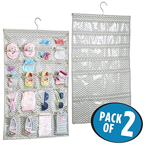 mDesign Hanging Fabric Baby Nursery Closet Organizer for Hat
