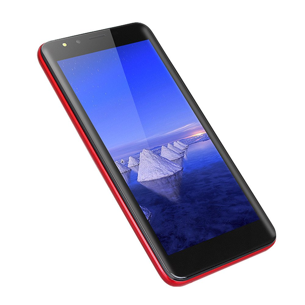Unlocked Mobile Phones - 5.5'' HD Display Smartphone - Android Octa-Core 512MB RAM+4GB Cell Phone 2.0MP Dual Camera Cellphone (Red, 5.5 inches)