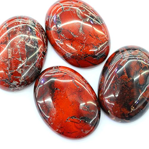 Brecciated Jasper Gemstone - 1pc Natural Cabachon CAB Brecciated Rainbow Jasper Gemstone Jewelry Making Loose Beads (oval 30*40mm)