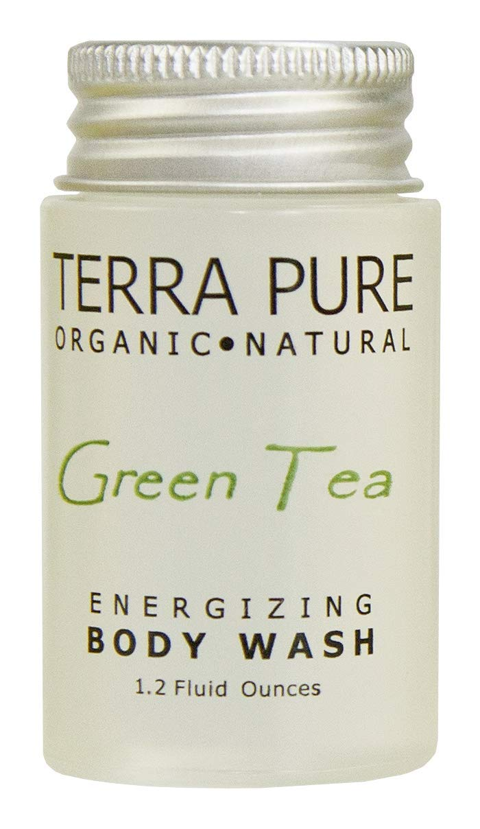 Terra Pure Green Tea Body Wash, 1.2 oz. In Jam Jar With Organic Honey And Aloe Vera (Case of 300)