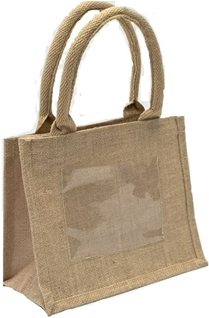 for Wedding Party Favors Hotel Bags 9x11x4 Favor Bags DIY Welcome Bags Out of Town Bags Lined 20 Burlap Jute Tote Bags with Handles