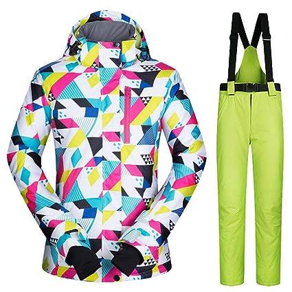 5667b8d2 TUANMEIFADONGJI Women Outdoor Sports Ski Suit Waterproof Windproof  Breathable Warm Colorful Thicken Snowsuit Winter Ski Jacket