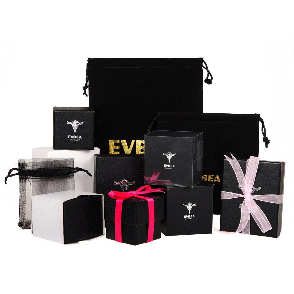 EVBEA Bague Femme Opales Bijoux /Éclatants 4 Rang/ées Plaqu/ée Or Blanc Bandes /Él/égant Conception Unique Cadeau pour Valentin Romantique Bandes Vintage