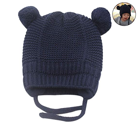 RARITY-US Unisex Toddler Soft Knit Hat Warm Baby Knit Hat Fall Winter Wool  Cap 2f19e1194a2