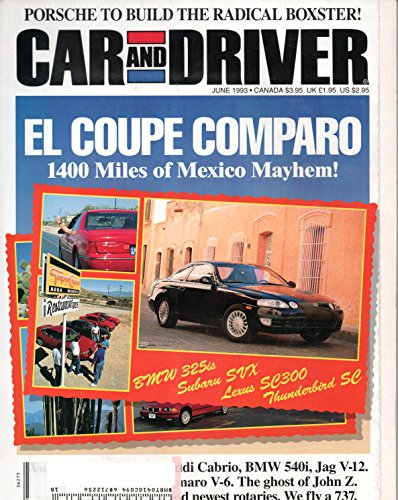 CAR AND DRIVER MAGAZINE JUNE 1993