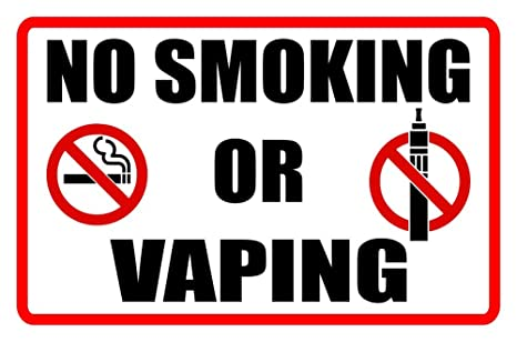 photograph about No Smoking Sign Printable titled NO Smoking cigarettes OR VAPING Business enterprise Indication medicine cigarettes vapor smoke regulations signage