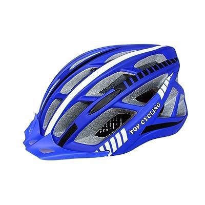 230g ultra léger - Eco-Friendly super léger intégralement casque de vélo, réglable léger Mountain Road casques de vélo pour hommes et femmes taille (56-62cm), bleu