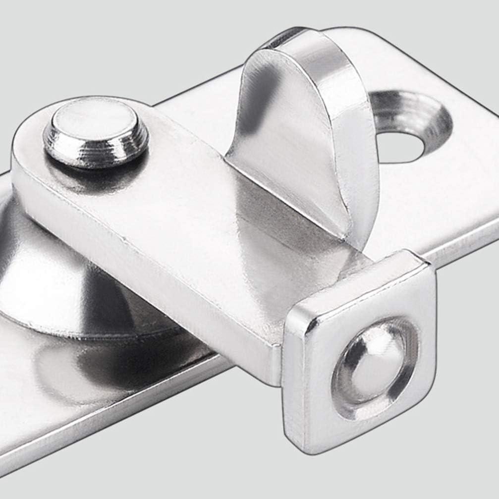 Serratura di sicurezza ad angolo retto a 90 gradi per porte scorrevoli in acciaio inox per recinzioni in legno o cancelli in metallo argento DOITOOL