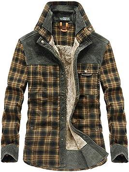 Chemise bûcheron homme à carreaux Veste Thermo Doublé Plain Sweat Shirt Flanelle
