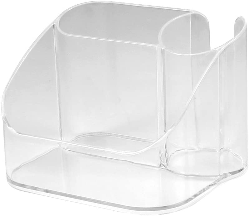 Spectrum Diversified Contour Countertop Hair Care Caddy, Clear