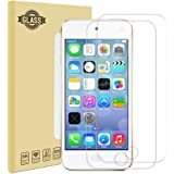iPod Touch 5th / 6th Generation Screen Protector [2 Pack], UCMDA Tempered Glass Protector for Apple iPod Touch 5th & 6th Gen [9H Hardness] [Scratch Resist] New iPod Screen Protector Guard Cover Film