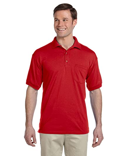 90f738cedd1 Gildan Dryblend Adult Jersey Polo Shirt With Pocket at Amazon Men s  Clothing store
