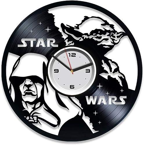 Kovides Yoda Vinyl Record Wall Clock Star Wars Clock Star Wars Darth Vader Vinyl Clock Star Wars Clock Star Wars Darth Vader Gift