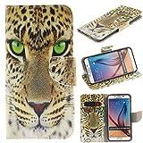 Galaxy S6 Edge+ Case,S6 Edge Plus Case,IVY [Yellow Tiger][Kickstand Flip Case][Card Slot][Cash Pockets][Knife Buckle] Premium Leather Flip Cover Wallet Case For Samsung Galaxy S6 Edge+ / Plus