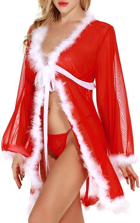 HNJing Ropa Interior Sexy Carnaval De Navidad Porno Lencería Sexy Mujeres Hermosas Traje De Especias Picante Atractivo Tentación Encanto Ropa Interior Calzoncillos Ropa De Dormir Chica Caliente: Amazon.es: Deportes y aire libre