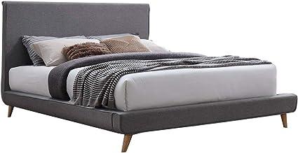 Meubletmoi Bergen - Cama doble (incluye cabecero de cama ...