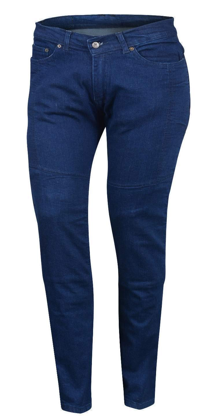 Bikers Gear Australia  Ladies Stretch Kevlar Lined Motorcycle Protective Jeans with Removable CE Armour, Blue, Size 8 KJ0014-8