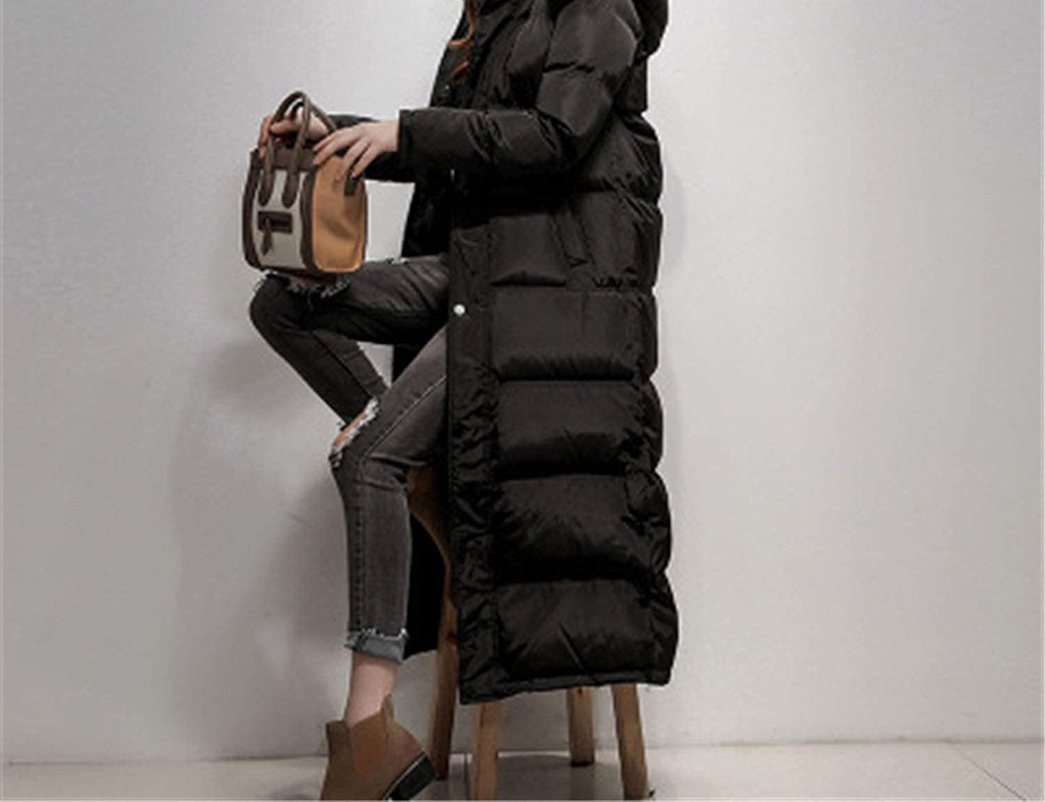 Winter Women Down Coat Winter Down Jacket Slim Thick Long Paragraph Over The Knee Down Coat D829