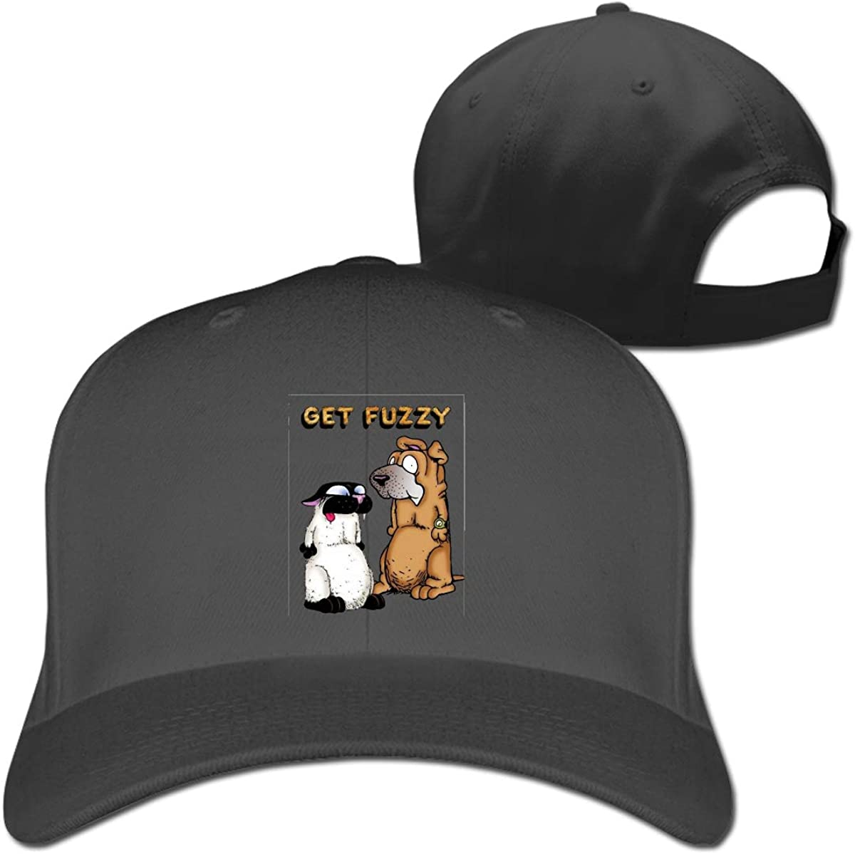 Get Fuzzy Design Fashion Adjustable Cotton Baseball Caps Trucker Driver Hat Outdoor Cap Black