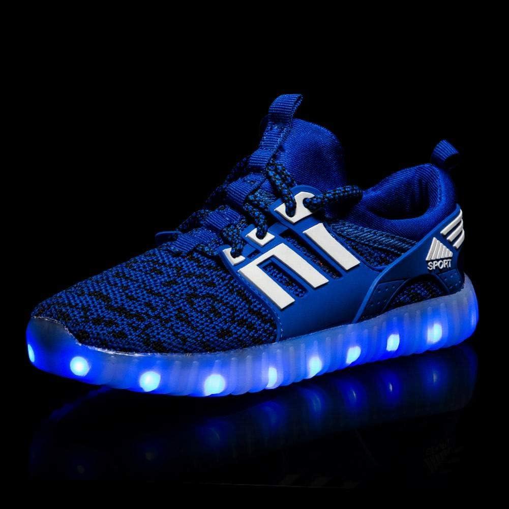 RENNICOCO Enfants LED lumi/ère vers Le Haut Chaussures de Mode Enfants Clignotants Lumineux Baskets