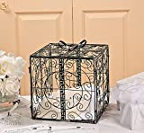 Black Metal Wedding Gift Box Card Holder Beautiful Wedding Reception Piece!!