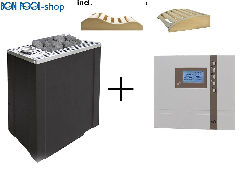 Sauna Horno BI de O de Filius 7,5 kW incl. Econ H3 4005531052036 Tensiómetro bio EOS Juego de cuñas bonpool y 2: Amazon.es: Jardín