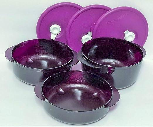 Tupperware Vent N servir 3pc pequeño y redondo microondas Set ...