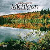 Michigan, Wild & Scenic 2019 7 x 7 Inch Monthly Mini Wall Calendar, USA United States of America Midwest State Nature