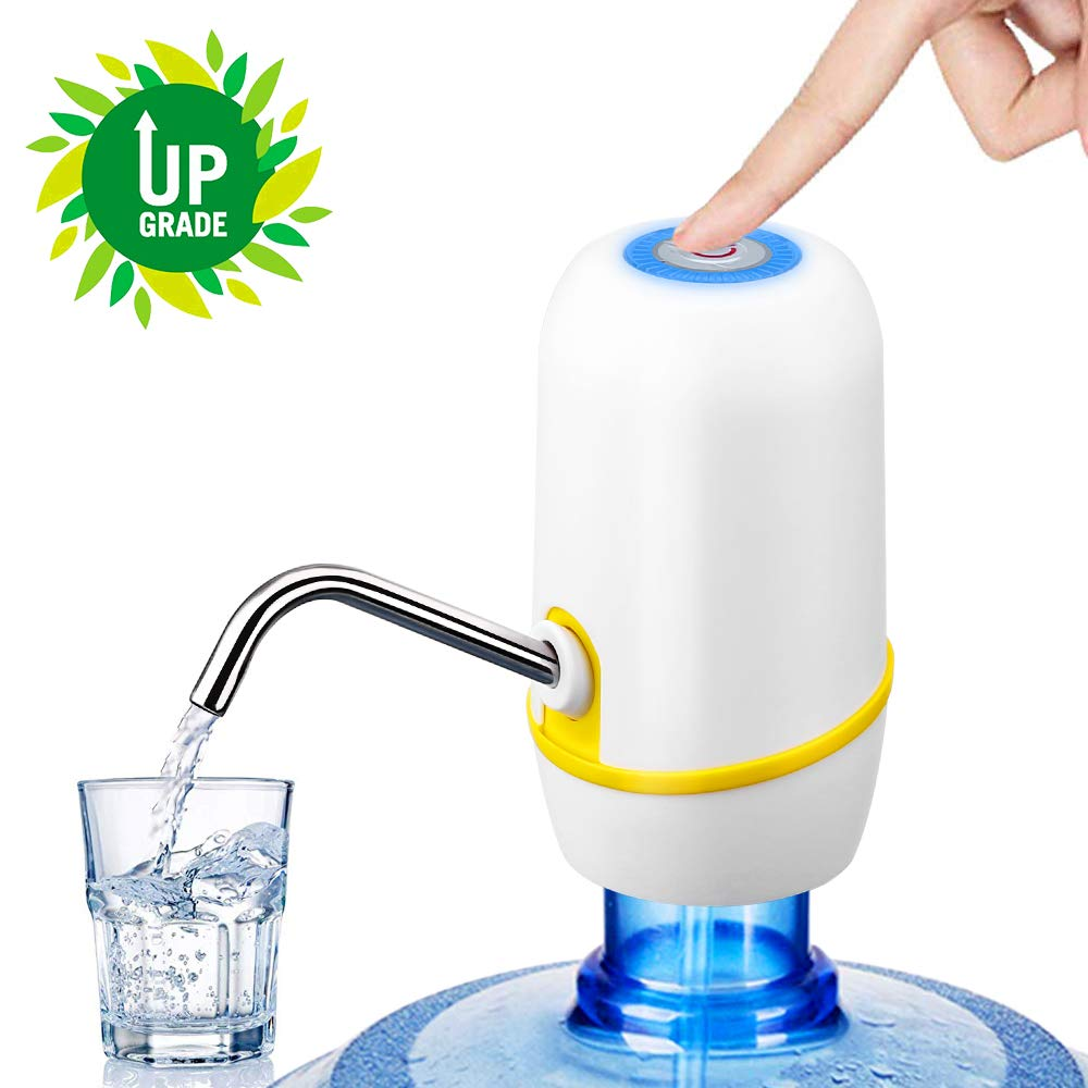Water Bottle Pump - Electric Drinking Water Pump Hapythda Portable USB Charging Automatic Drinking Water Pump for Universal 5 Gallon Bottle
