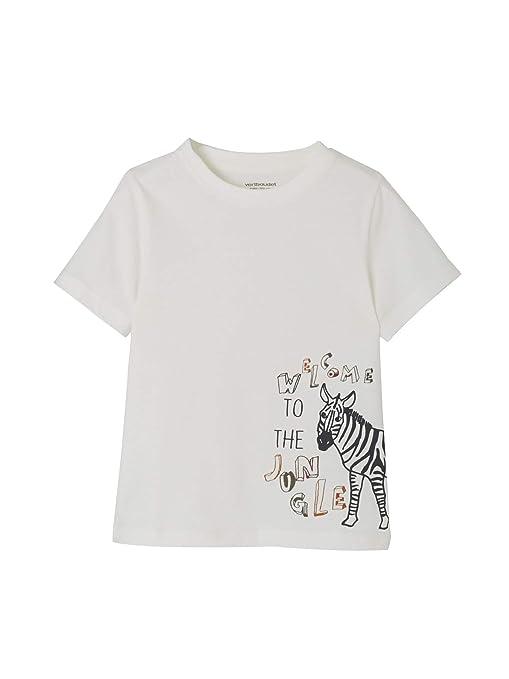 8107946ca VERTBAUDET Conjunto para niño de camiseta y pantalón de felpa estampados de  cebra Gris oscuro liso