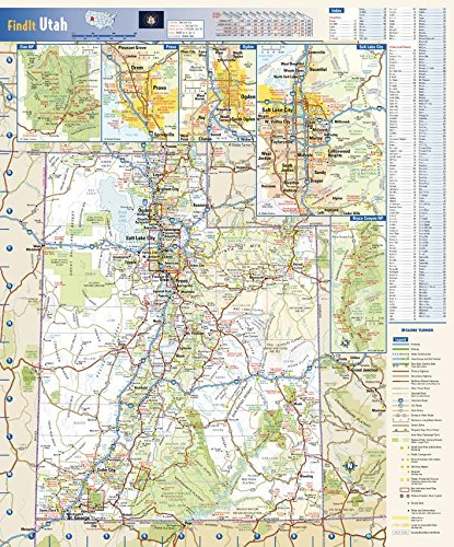 Utah State Wall Map - 14.75