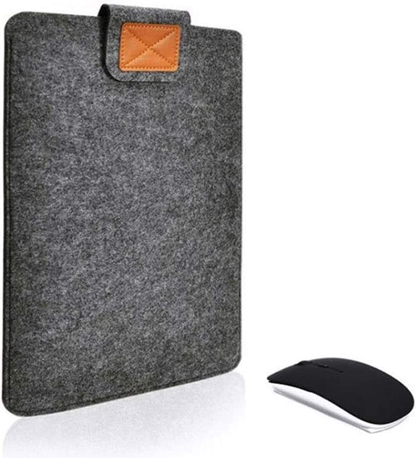 OUYAWEI Simple Solid Color Laptop Notebook Storage Bag Pouch Protection Case for MacBook iPad Dark Gray 12 inches