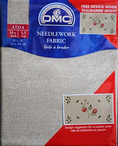 Aida Needlework Metallic Fabric 14 Ct 14X18-Gold